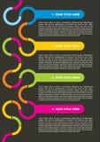 Dunkles Broschüre-und Plakat-Konzept Lizenzfreie Stockfotografie