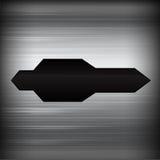 Dunkles Chrom schwarzes und graues Hintergrundbeschaffenheits-Vektor illustratio vektor abbildung