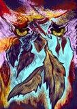 Dunkles Fantasiethema Moderne Kunst Dreamcatcher Stockbild