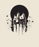 Dunkles gotisches Haus Stockfotos