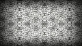 Dunkles Grey Floral Pattern Wallpaper Template stock abbildung
