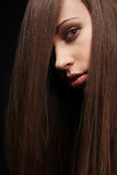 Dunkles Haar. Stockfotografie