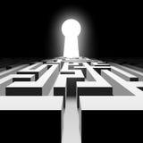 Dunkles Labyrinth Auf lagerabbildung Stockbilder
