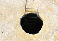 Dunkles Loch auf Straße Lizenzfreies Stockbild