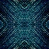 Dunkles Muster der blauen Pixel mit Feingoldstrukturen Lizenzfreies Stockbild