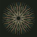 Dunkles Muster des abstrakten nahtlosen Vektors mit abstrakten Blumen Lizenzfreies Stockbild