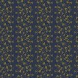 Dunkles Muster mit Goldblättern und -niederlassungen Stockbilder