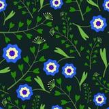 Dunkles Muster mit Gras Lizenzfreies Stockfoto