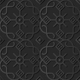 dunkles Papierkunst 3D Kurven-Kontrollkreuz runder Dot Line Frame Flower vektor abbildung