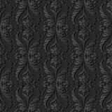 dunkles Papierkunst 3D Kurven-Wellen-Kreuz Dot Line Leaf Flower Stockfotografie