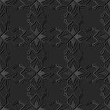 dunkles Papierkunst 3D Polygon-Stern-Geometrie-Kreuz Dot Frame Line stock abbildung