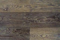 Dunkles Parkett der Beschaffenheit als abstrakter Beschaffenheitshintergrund, Draufsicht Materielles Holz, Eiche, Ahorn Lizenzfreie Stockfotografie