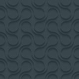 Dunkles perforiertes Papier mit Entwurf verdrängen Effekt Lizenzfreies Stockfoto