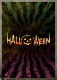 Dunkles Plakat für Halloween Stockfotos
