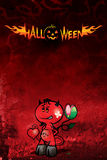 Dunkles Plakat für Halloween Lizenzfreie Stockbilder