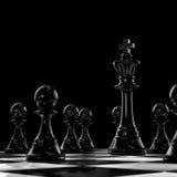 Dunkles Schach Lizenzfreies Stockfoto