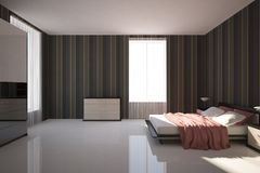 Dunkles Schlafzimmer Stockfotografie