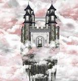 Dunkles Schloss lizenzfreie abbildung