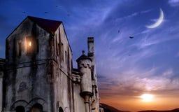 Dunkles Schloss Stockfotografie