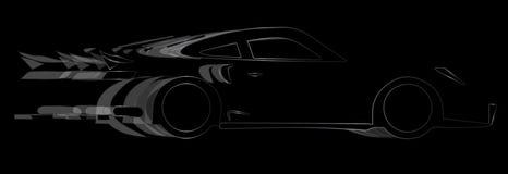 Dunkles schnelles Auto Lizenzfreie Stockbilder