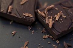 Dunkles Schokoladen-Makro Stockfotos