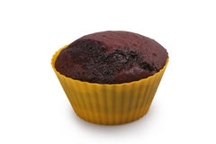 Dunkles Schokoladenmuffin lizenzfreies stockfoto
