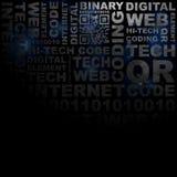 Dunkles Technologieschmutz-Wortmuster lizenzfreie abbildung