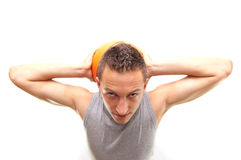 Dunkmaster. Basketball player with ball, isolated on white, simmilar images in my portfolio Stock Photography