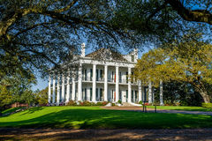 Dunleith historic inn, natchez, mississippi. Sitting on 40 well manicured acres, dunleith is an 1856 historic inn, and is listed as a national hisoric landmark royalty free stock photo