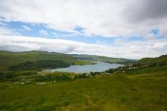 Dunlewey lub Dunlewy jesteśmy małym Gaeltacht wioską w Gweedore Obraz Royalty Free