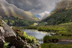 The Dunloe Gap. Impending storm at the Gap of Dunloe near Kilarney Ireland Stock Image