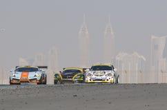 Dunlop 2012 24 horas compite con en Dubai Fotos de archivo