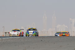 Dunlop 2012 24 horas de raza en Dubai Imagen de archivo