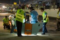 Dunlop 2012 24 horas de raza en Dubai Foto de archivo