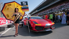 Dunlop 2012 24 horas de raza en Dubai Fotos de archivo libres de regalías