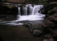 Dunloup Creek Falls, Thurmond WV. December 2005 - This beautiful little waterfall is in south central West Virgina stock images
