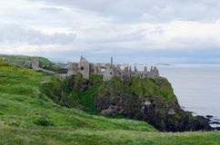 Dunluce城堡,北爱尔兰 库存照片