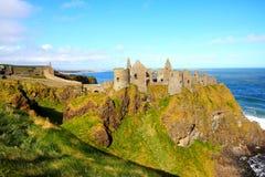 Dunluce城堡,北爱尔兰 免版税库存照片