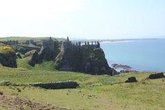 Dunluce城堡,北部安特里姆,北爱尔兰 免版税库存图片