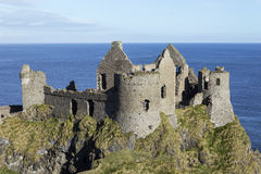 Dunluce城堡 库存照片