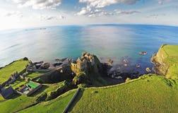 Dunluce城堡Co 安特里姆北爱尔兰 库存照片