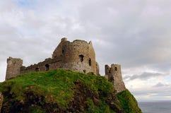 Dunluce城堡,北爱尔兰 库存图片