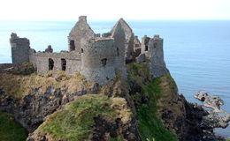 Dunluce Castle. The ruins of Dunluce castle on the Northern Ireland coast Stock Photography