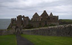 Dunluce Castle, Antrim, Βόρεια Ιρλανδία Στοκ Φωτογραφία