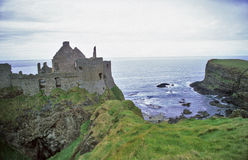 Dunluce Castle Cliffs Stock Images