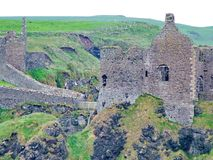 Dunluce Castle. In County Antrim, Northern Ireland Stock Photography