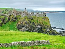 Dunluce Castle. In County Antrim, Northern Ireland Stock Photos