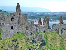 Dunluce Castle. In County Antrim, Northern Ireland Stock Photo