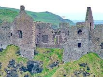 Dunluce Castle. In County Antrim, Northern Ireland Royalty Free Stock Photo
