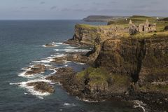 Dunluce Castle from a distance. royalty free stock photo